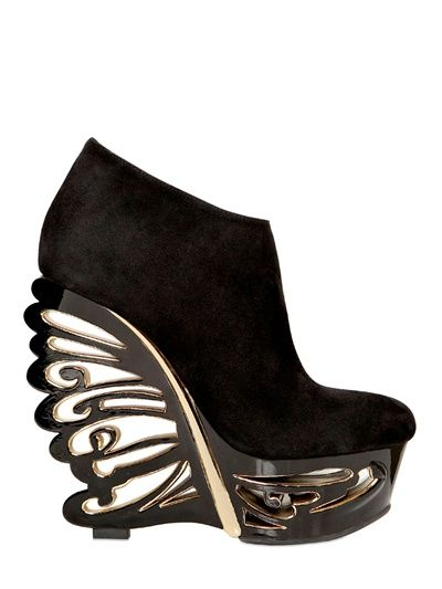 LE SILLA - SUEDE BUTTERFLY WEDGES