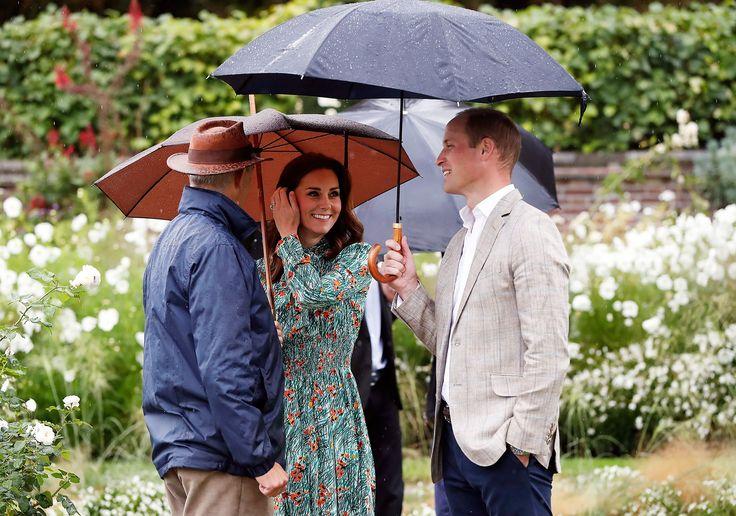 Prince William, Prince Harry and Kate Middleton Dedicate New Garden to Princess Diana