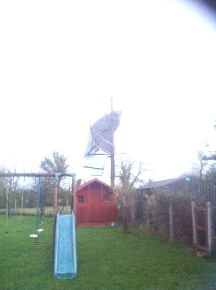Strange place to put a trampoline