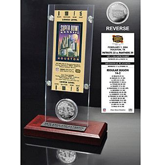 Highland Mint NFL® Super Bowl XXXVIII Ticket and Game Coin Collection