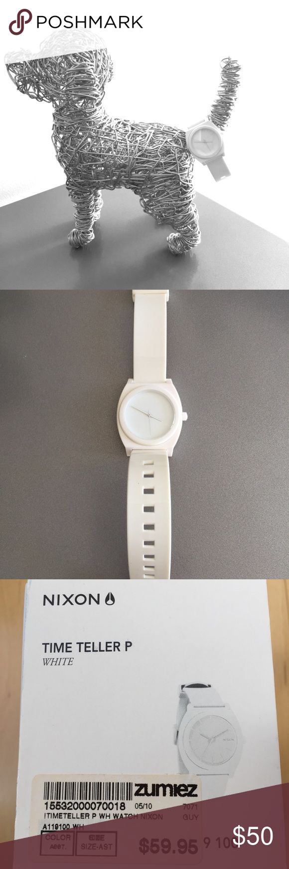 Brand New Nixon Women's Watch White Brand New....never worn! Wire dog 🐶 NOT included!!! Nixon Accessories Watches