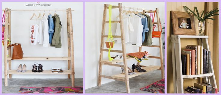 Ideas geniales para decorar con escaleras de madera http for Ideas para decorar escaleras