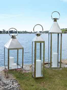 Stainless Steel Lanterns Large Indoor Candle