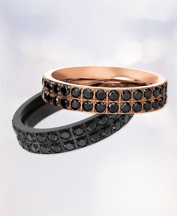 Pure Eleganz. Die Schmuckstücke von #Viventy, aus rostfreiem Stahl und mit zahlreichen funkelnden Zikonia Steinchen besetzt.