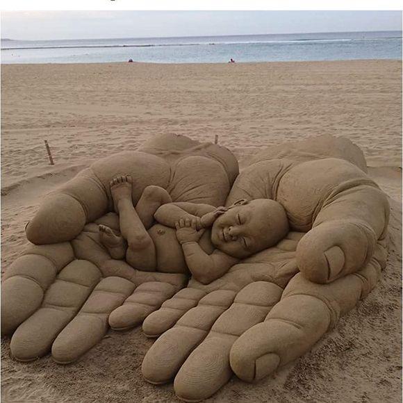 Удивительные скульптуры  из  песка | YACENKA