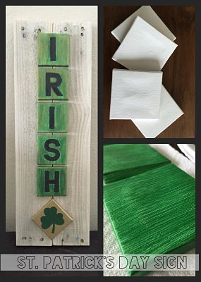 This DIY St. Patrick's Day sign is a fun way to add a little Irish spirit to your home decor.