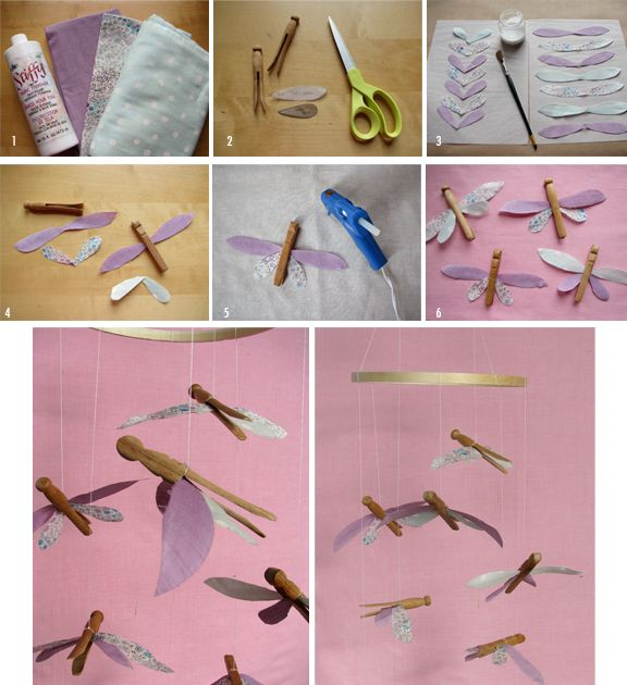 For the girls.: Dragonfly Mobiles, Dragonfly Crafts, Crafts Ideas, Baby Mobiles, Kids Crafts, Crafts Projects, Dragon Flying, Baby Nurseries, Clothespins Dragonfly