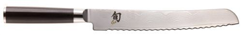 Shun DM0705 Classic 9-Inch Bread Knife by Shun. $149.99. Clad with16 layers of stainless steel to produce a rust-free Damascus look. Lifetime warranty; manufactured in Seki City, Japan. Durable D-shaped Pakkawood handle; comfortable offset steel bolster. 9-inch Japanese bread knife; ideal for everything from rustic artisan breads to baguettes. Precision-forged stainless-steel blade; serrated edge prevents tearing. Amazon.com                A member of the stylish Shu...