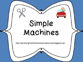 Simple Machines - Flashcards and Activities (English)