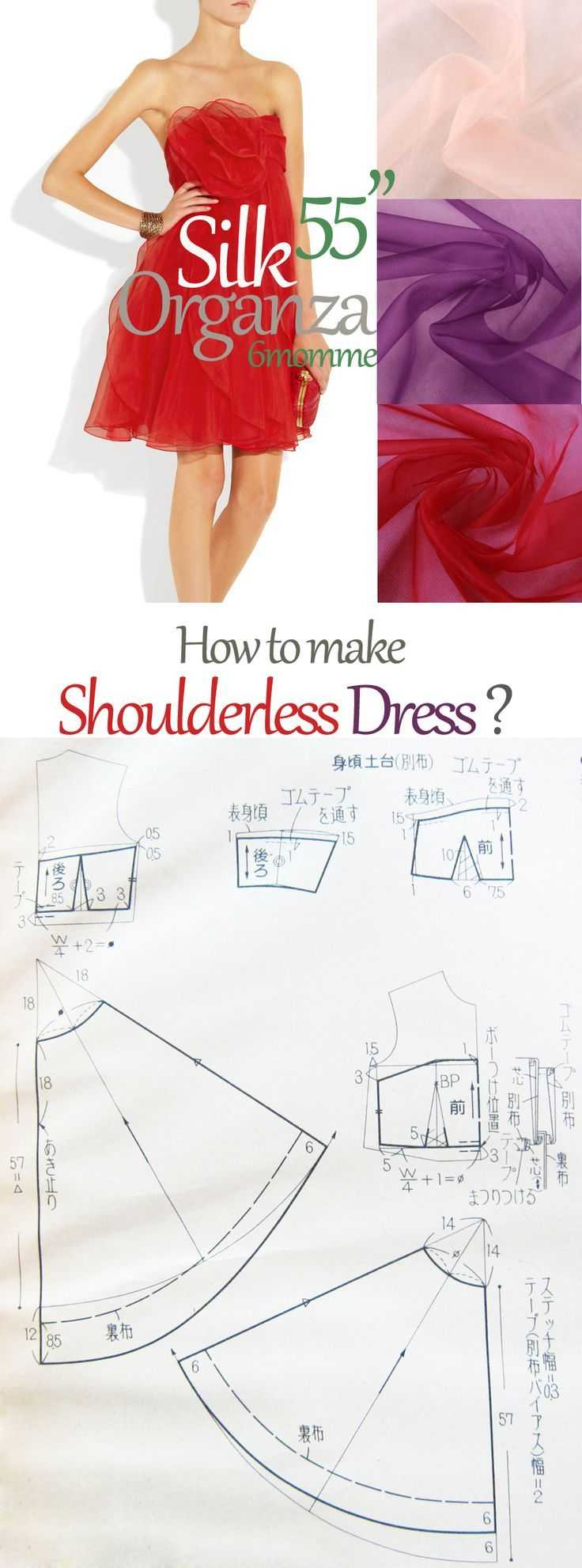 Free sewing pattern for a prom dress. I think they mean strapless dress, not shoulderless? More free sewing patterns at http://www.sewinlove.com.au/free-sewing-patterns/