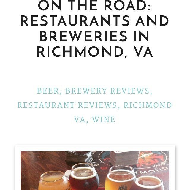 Blog post today!!! Check it out Kitchenability.com All about #RVA  and #breweries #winery #food #fun and amazing #restaurants!   http://kitchenability.com/beer/on-the-road-restaurants-and-breweries-in-richmond-va