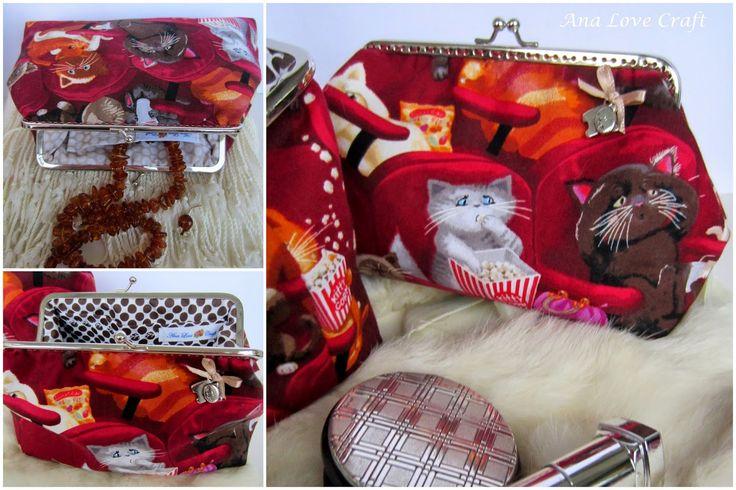 Ana Amor Craft: BOLSAS DA AVÓ COM GATOS - MALOTES METAL quadro com CATS