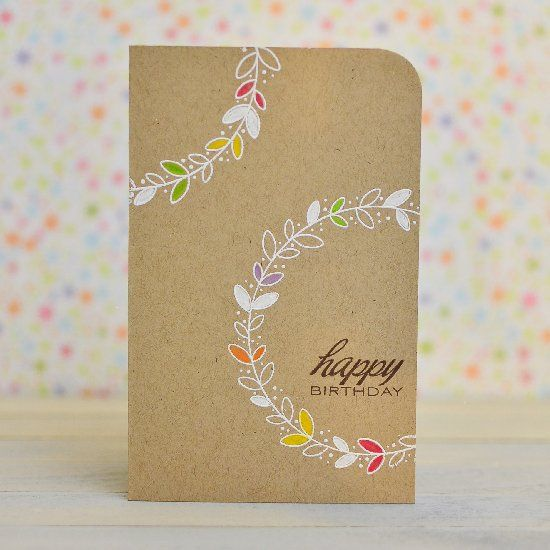 Create a clean and simple card for your loved ones. Lots of handmade card inspiration here.