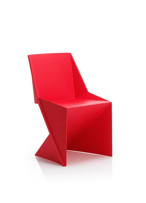these stacking chairs is a good way to add a splash of colour