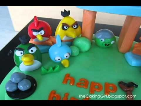 Fondant Decorating: ANGRY BIRDS birthday cake I made! Hope you like it :) love this and my nephew wants an angry birds cake for his 7th bday in October. Thanks for sharing!