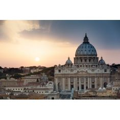 Petersdom, Sonnenuntergang, Rom, Italien, Fototapete, Merian, Fotograf: G. Hänel