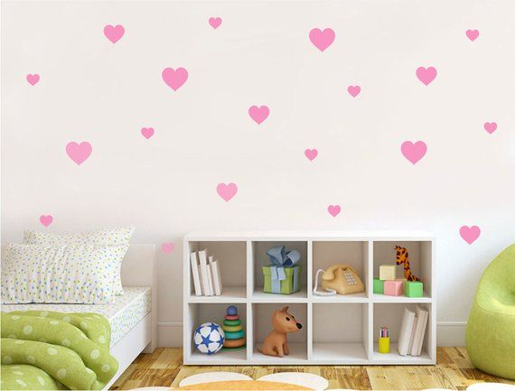Heart Wall Stickers Heart Wall Decals Nursery Wall Decor Nursery Wall Art Heart Stickers Hearts Wall Art Wall Stickers Bedroom Heart Wall Decor Wall Decor Stickers