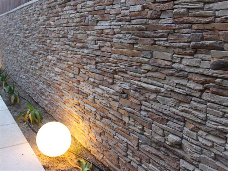 Rivestimento in pietra ricostruita laja pizarra collezione - Plaquetas decorativas exterior ...