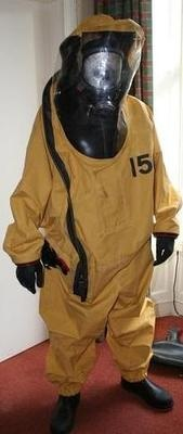 Authentic Chemical Hazmat Gastight Fire Fighters Suit from 1995 - Rare
