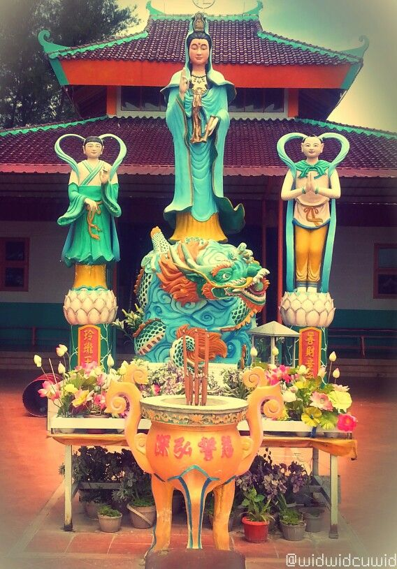 Kwan Im Goddess #Statue located in Quan Am Tu Temple at Vietnam Refugees Camp in Galang Island #Batam #Indonesia