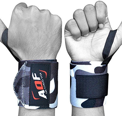 From 4.99 Aqf Weight Lifting Wrist Wraps Bandage Hand Support Gym Straps Brace Cotton Camo (grey Camo)