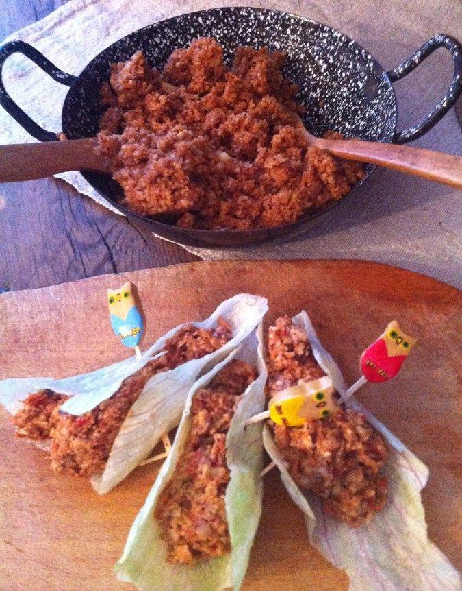 Taco vegan gourmand, sans gluten, sans lactose