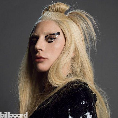 Lady Gaga wears winged eyeliner look on Billboard Magazine December 2015 Photoshoot