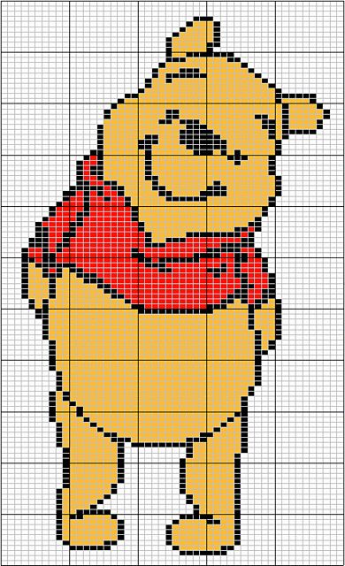 Ravelry: Winnie the Pooh free Knit Chart pattern by LS Knits