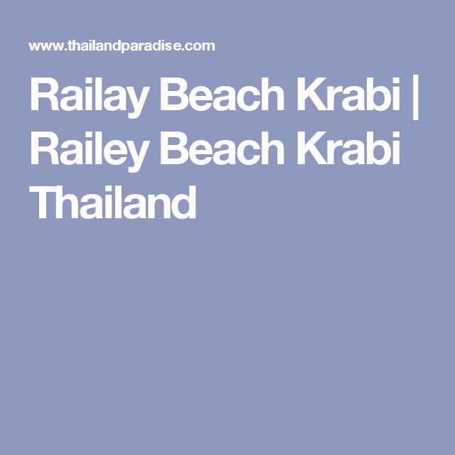 Railay Beach Krabi | Railey Beach Krabi Thailand