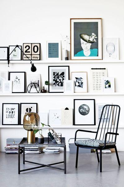 Des cadres pour une déco murale tendance dans le séjour | Relooking à mini prix !