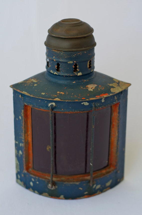 Antique Ship Lantern  Nova Scotia by boundforgloryresale on Etsy, $65.00