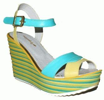 Обувь Босоножки ODRI бирюзовые