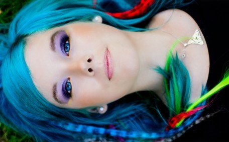 Blue haired Emilie
