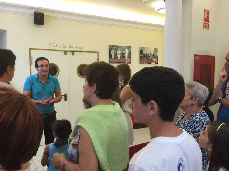 17/07/15: En esta segunda jornada de visitas al Teatro Casino Liceo fueron unas 30 personas las que se inscribieron para descubrir este emblematico edificio y su historia. ¡No lo dudes y reserva tu visita para el proximo viernes! ¡Santoña te espera!