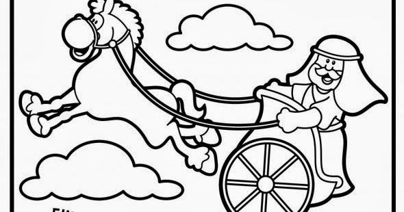 37+ Elijah and the chariot of fire coloring page download HD