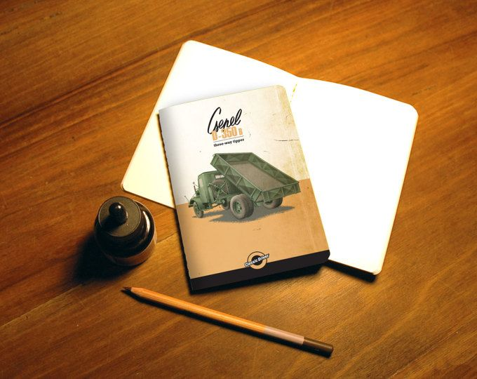 Sketchbook, notebook, Classic cars, Central european car, Hungarian truck, Csepel, Canson paper
