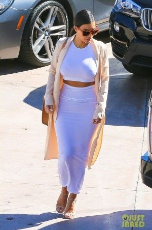 Kim Kardashian wearing Prada Nude Patent Leather Ankle Strap ...