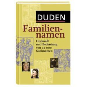 What's in a (German) Name?: Duden - Familiennamen