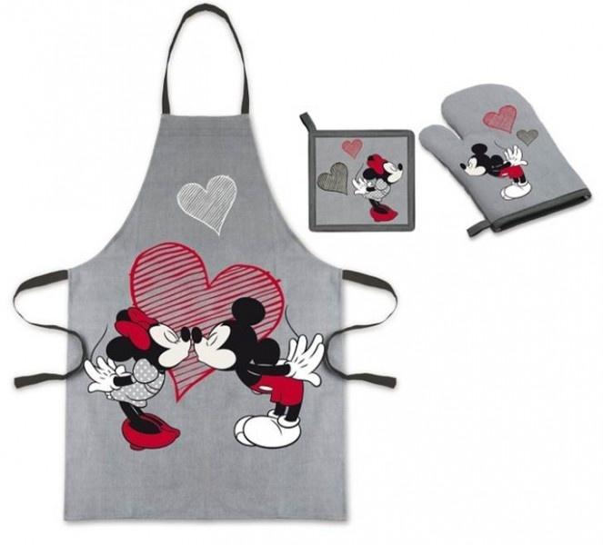 Disney Mickey & Minnie Set Cucina composto da Grembiule, Presina e Guanto da Forno, Accessori Cucina Disney Adulto - <3