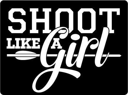 Shoot Like a Girl Decal - White