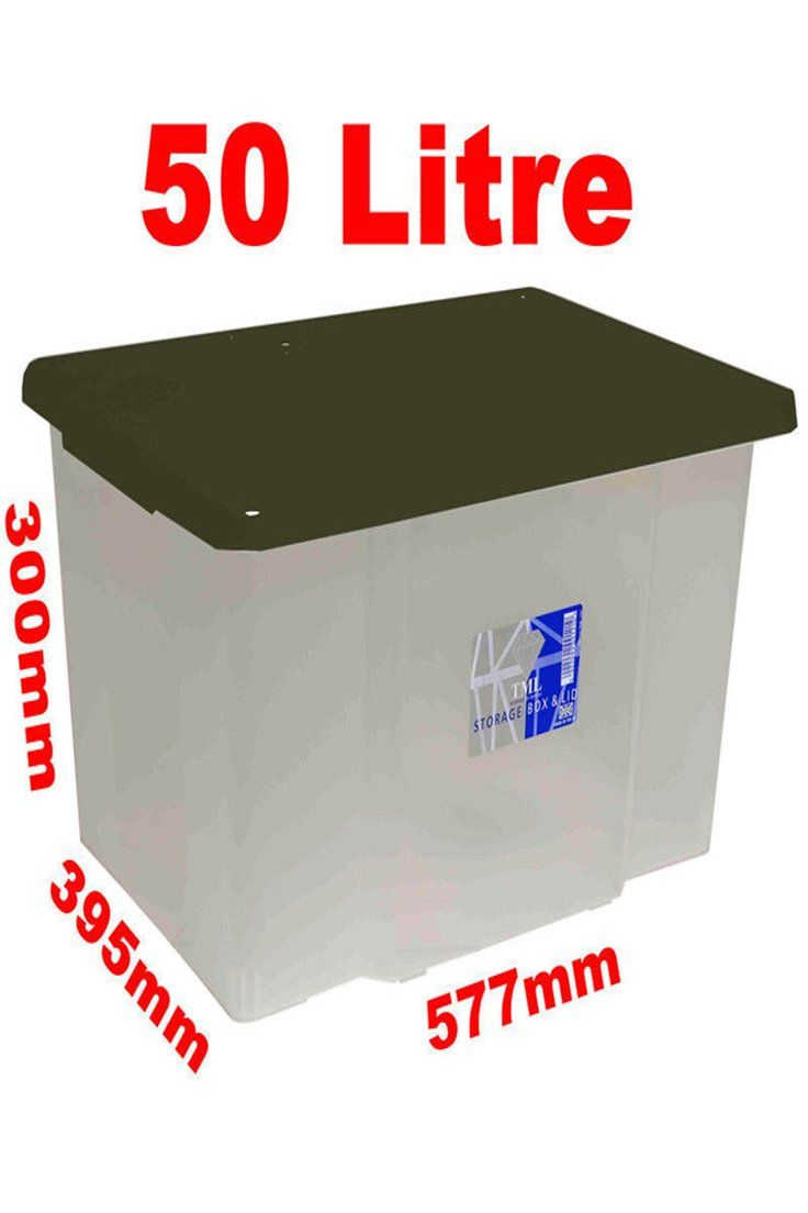48 92 Gbp 10 X 50l 50 Litre Large Size Plastic Clear Storage Box Boxes Set Container Lid Litre Large Size Plasti Storage Home And Garden Storage Box