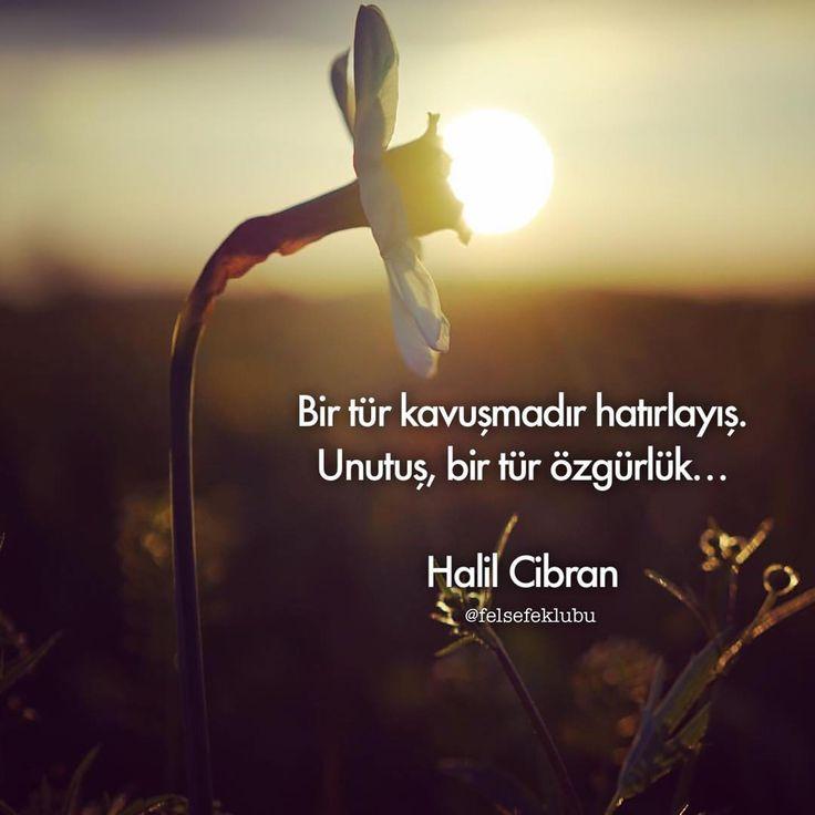 Bir tür kavuşmadır hatırlayış.  Unutuş, bir özgürlük...   - Halil Cibran  #sözler #anlamlısözler #güzelsözler #manalısözler #özlüsözler #alıntı #alıntılar #alıntıdır #alıntısözler #şiir #edebiyat