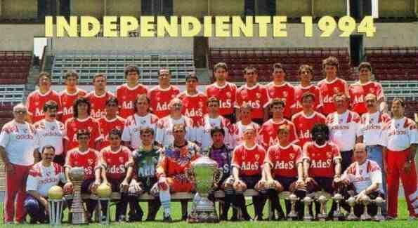 CA Independiente of Argentina team group in 1994.