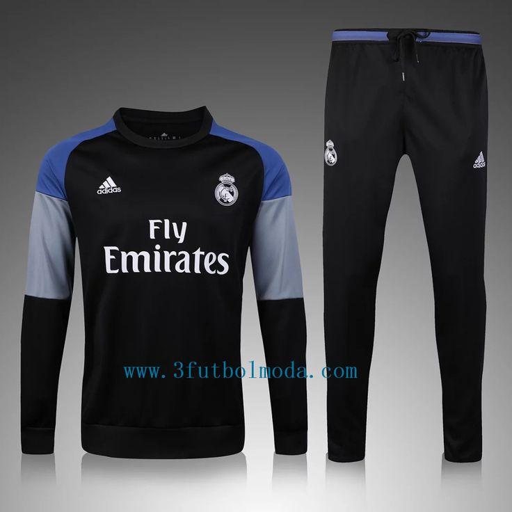2016-2017 Real madrid negro chandal de futbol baratas www.esfutbolmoda.com