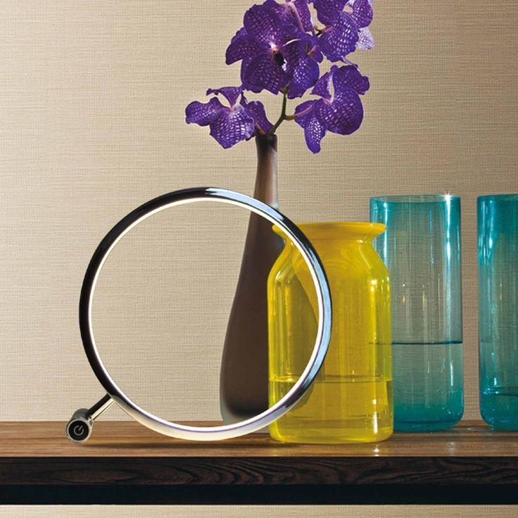 Kaufen (EU Lager)Led Tischlampe Modern Ring Design Chrom Mit Günstigste  Preis Und Gute