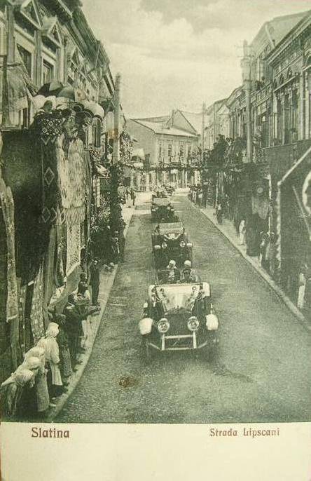 Slatina anul 1926, Vizita Familiei Regale surprinsa pe Strada Lipscani