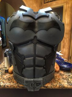 Part of a costume I'm making inspired by Batman Arkham origins. Made completely out of EVA foam. Love this stuff! Batman Arkham Origins homemade costume cosplay DIY eva foam