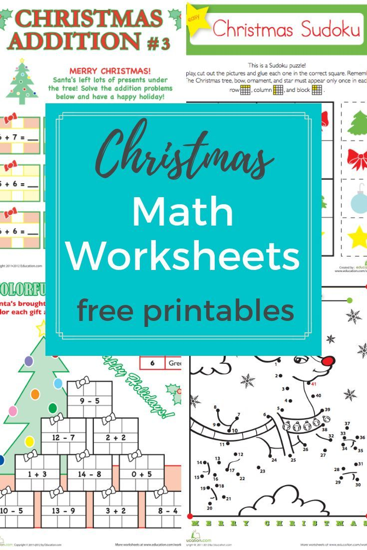 Browse More Than A Hundred Christmas Themed Math Worksheets To Do With Your Preschool Holiday Math Worksheets Christmas Math Worksheets Mathematics Worksheets