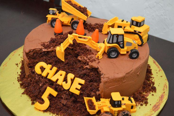 Bulldozer digging cake