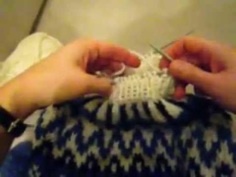 Как вязать исландский свитер